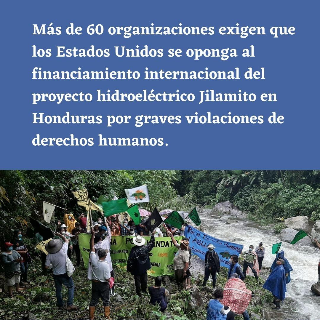 Organizaciones de la sociedad civil urgen la cancelación definitiva del financiamiento internacional del proyecto hidroeléctrico Jilamito en Honduras